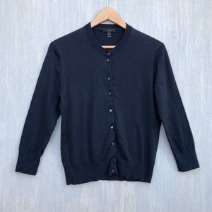 J. Crew cotton Jackie cardigan sweater L
